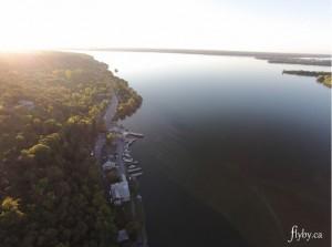 aerial photo of glenora ferry